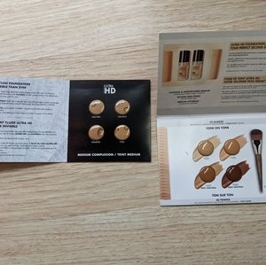 Two MUFE foundation sample packs makeup forever